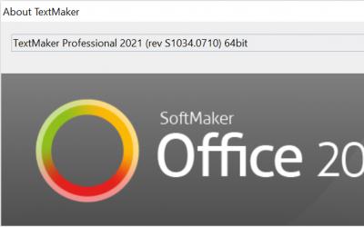 SoftMaker Office 2021 rev 1034.0710 has been released